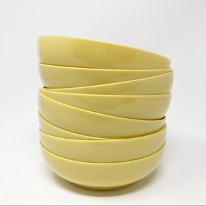 Vintage Melmac Bowls Yellow Harmony House Set of 8